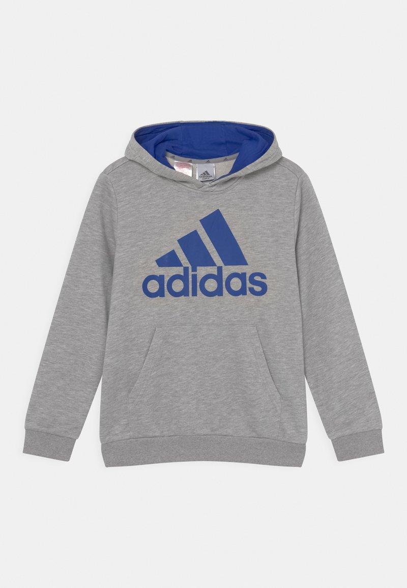 adidas Performance - Hoodie - medium grey heather/bold blue