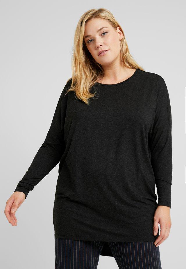 CARCARMA LONG - Long sleeved top - black/melange