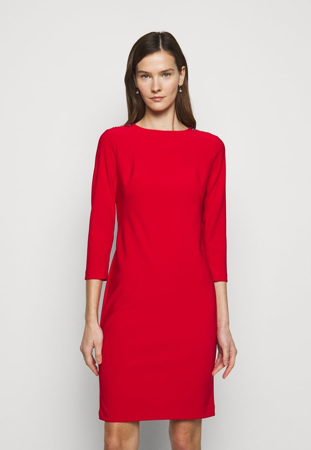 BONDED DRESS TRIM - Etui-jurk - lipstick red