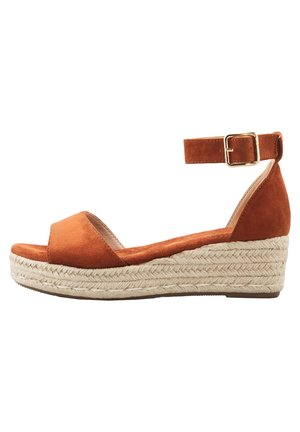 Wedge sandals - braun-mittel