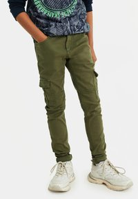 WE Fashion - Cargo trousers - army green - 0