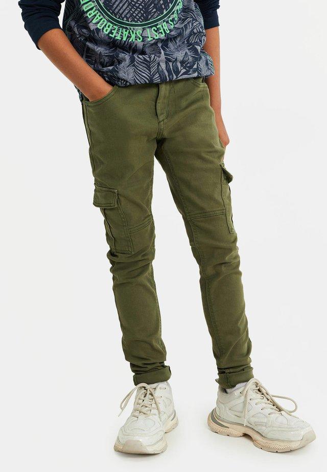 Pantalon cargo - army green