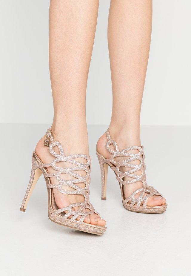 High Heel Sandalette - star skin