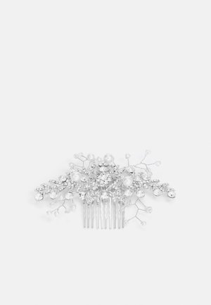 MULLENDER - Hair styling accessory - clear & pearl on rhodium