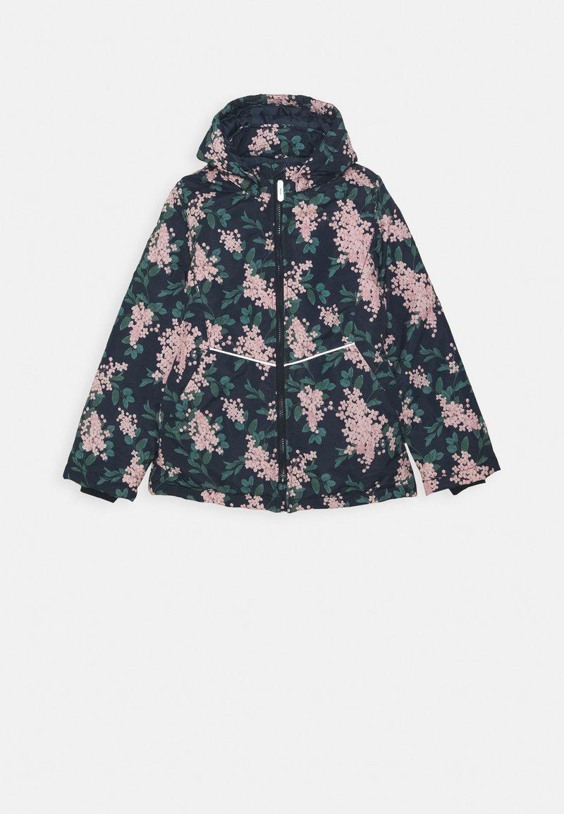 Name it - NKFMAXI JACKET FLOWER - Winterjas - dark sapphire
