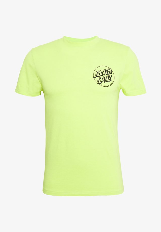 unisex opus dot - Printtipaita - safety green