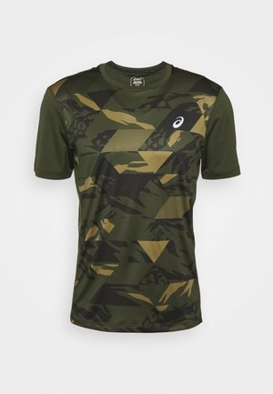 FUTURE CAMO - Print T-shirt - smog green