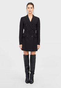Stradivarius - Trenchcoat - black - 1