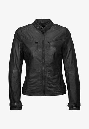 RYANA - Leather jacket - black