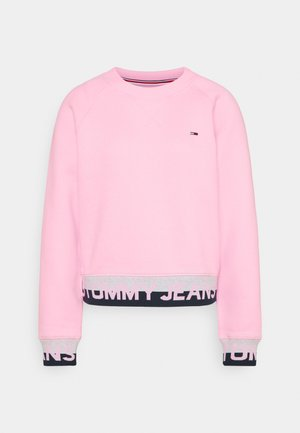 BRANDED HEM - Sweatshirt - romantic pink