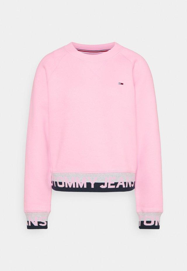 BRANDED HEM - Sweatshirt - romantic pink