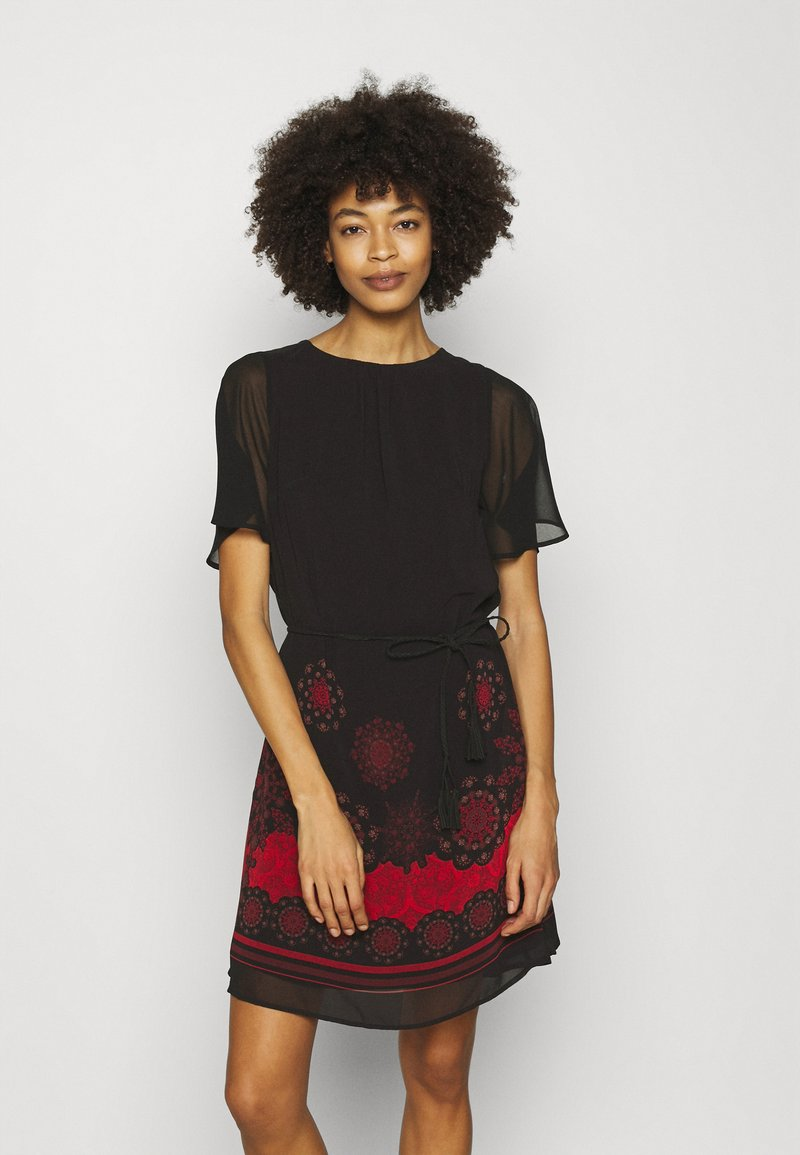 Desigual - VEST TAMPA - Day dress - black