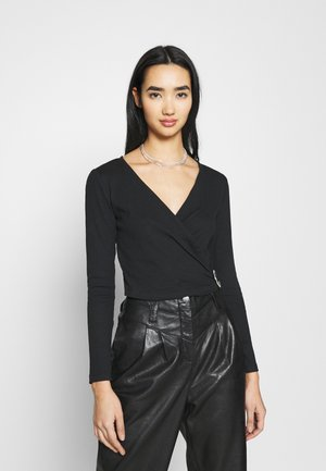 ONLVERONICA LIFE WRAP - Long sleeved top - black