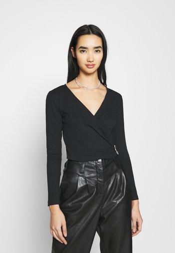 ONLVERONICA LIFE WRAP - Long sleeved top - black