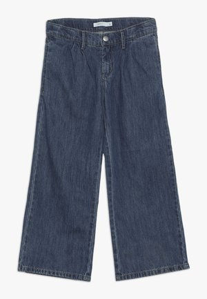 NKFBACULOTTA 7/8 WIDE PANT - Relaxed fit jeans - medium blue denim