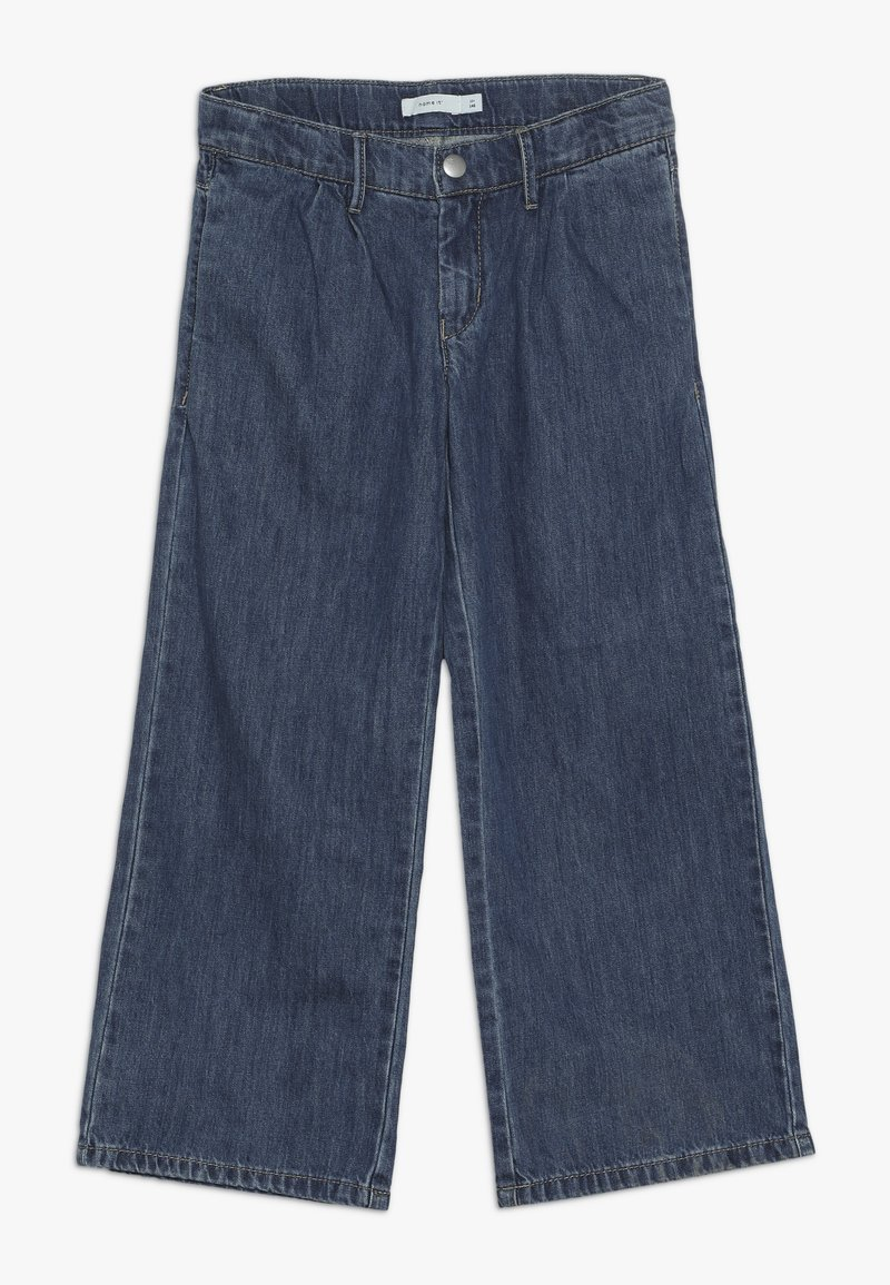 Name it - NKFBACULOTTA 7/8 WIDE PANT - Vaqueros boyfriend - medium blue denim