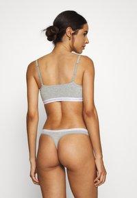 Calvin Klein Underwear - UNLINED BRALETTE 2 PACK - Bustier - grey heather - 2