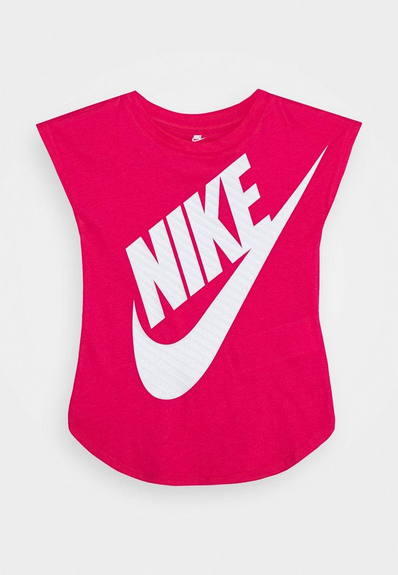 Nike Sportswear - GIRLS JUMBO FUTURA TEE - Print T-shirt - rush pink