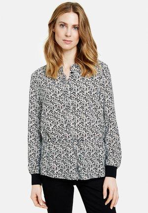 MIT MILLES FLEURS DESSIN - Long sleeved top - schwarz/ecru/weiss druck