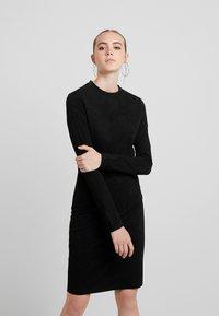 Urban Classics - LADIES PEACHED DRESS - Shift dress - black - 0