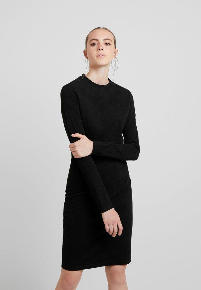 LADIES PEACHED DRESS - Sukienka etui - black