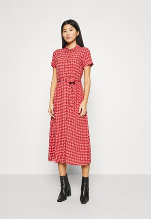 ROSIE MIDI DRESS WARRIOR - Košilové šaty - apple pink