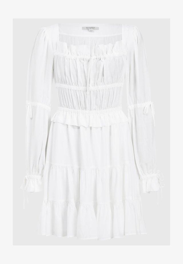 KIMI SHORT DRESS - Day dress - white