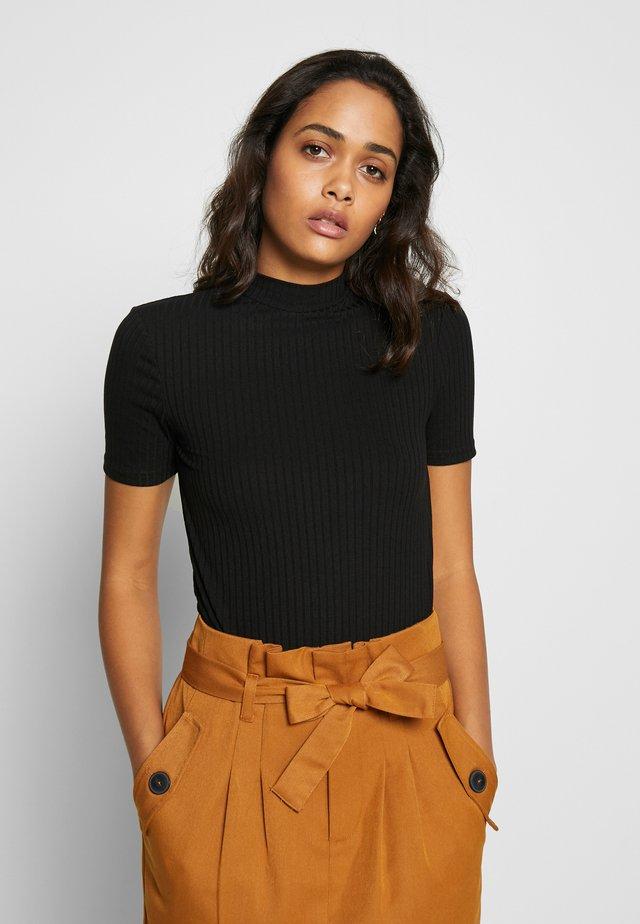 PCKYLIE T NECK - T-shirt basique - black