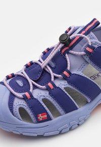 TrollKids - KIDS KVALVIKA UNISEX - Walking sandals - dark purple/lavender - 5