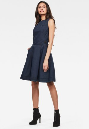 FIT AND FLARE - Day dress - rinsed