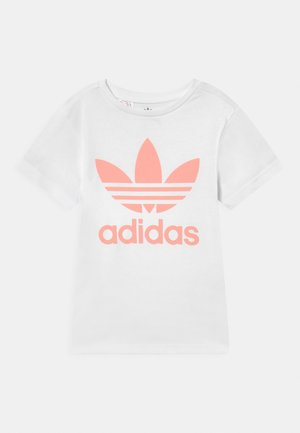 TREFOIL TEE - Print T-shirt - white/haze coral