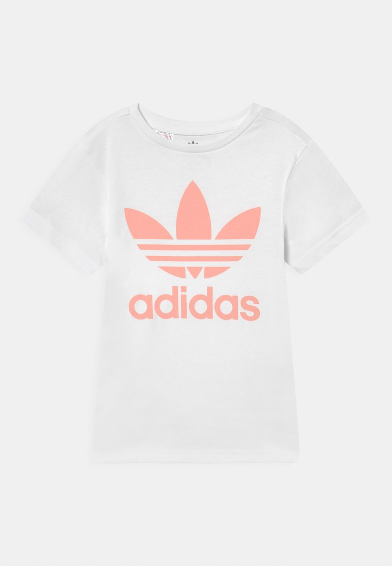 adidas Originals - TREFOIL TEE - T-shirt imprimé - white/haze coral
