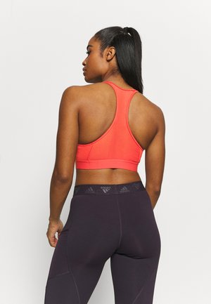 ASK BRA - Medium support sports bra - crew red