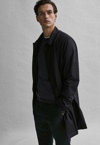 Massimo Dutti - Manteau classique - blue-black denim - 3