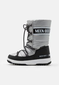 Moon Boot - JR GIRL QUILTED WP - Botas para la nieve - silver/black - 0