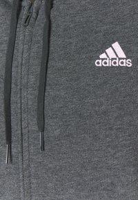 adidas Performance - LIN - Sudadera con cremallera - dark grey/pink - 2