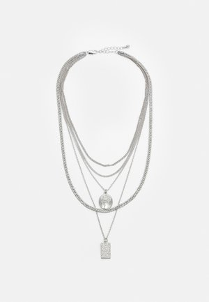 PCKELLIGE COMBI NECKLACE - Necklace - silver-coloured