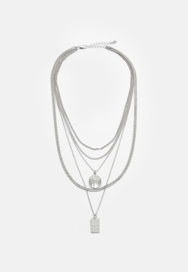 PCKELLIGE COMBI NECKLACE - Ketting - silver-coloured