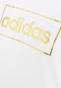 adidas Performance - Print T-shirt - white/gold - 2