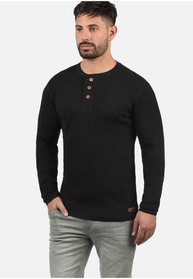 RUNDHALSSHIRT TOKATO - Long sleeved top - black
