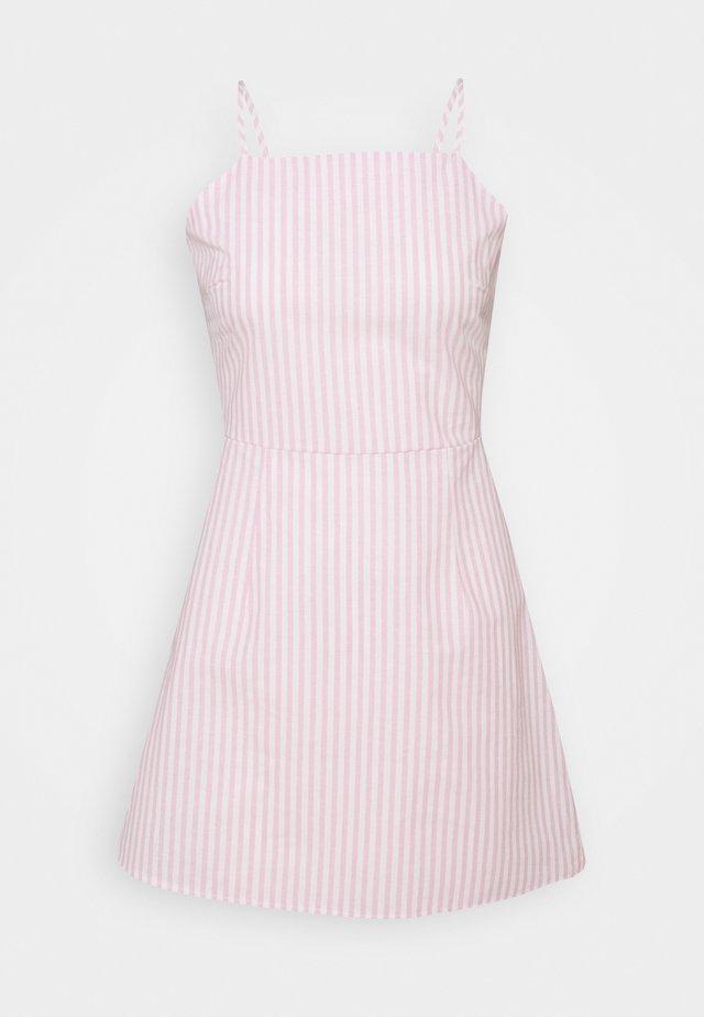 CAMI TIE BACK A LINE DRESS - Korte jurk - pink