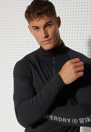 CARBON BASE - Long sleeved top - black