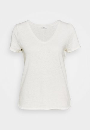 SHORT SLEEVE V NECK - Basic T-shirt - scandinavian white