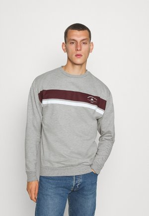 CHEST STRIPE - Sweater - grey