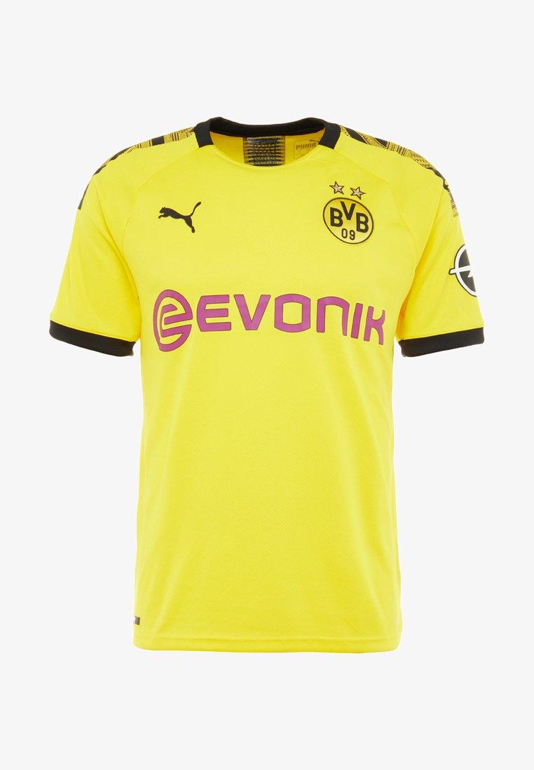 Puma Bvb Borussia Dortmund Home Replica With Evonik Logo Club Wear Cyber Yellow Black Zalando Co Uk