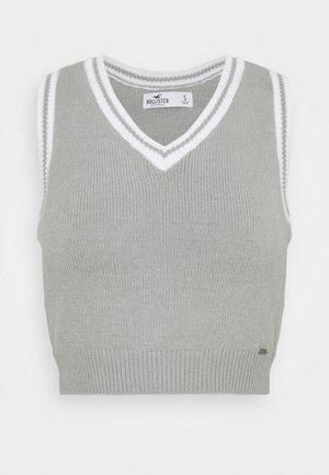 Jumper - light grey white tipping