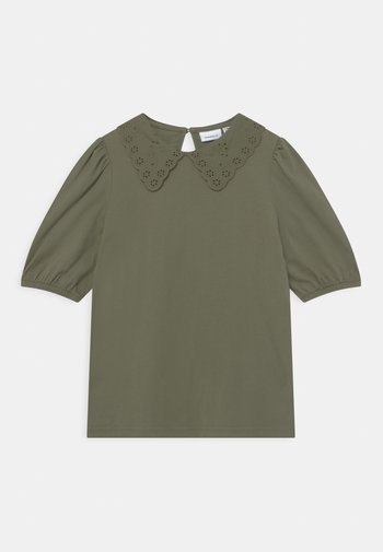 NKFHEIDIL - T-shirt print - deep lichen green