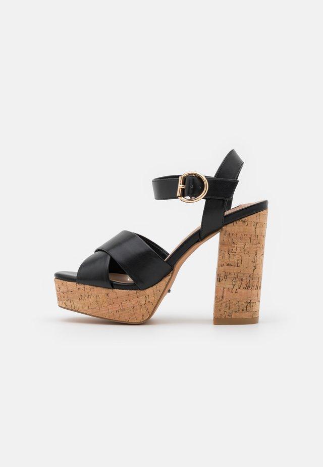 ONLATUMN - Sandalen met plateauzool - black