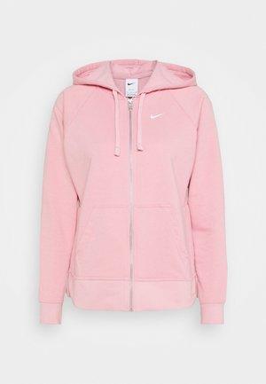 DRY GET FIT - Sweat à capuche zippé - pink glaze/white