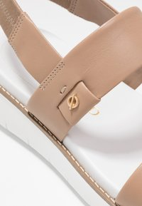 Cole Haan - ZEROGRAND GLOBAL DOUBLE BAND - Platform sandals - amphora/optic white - 2